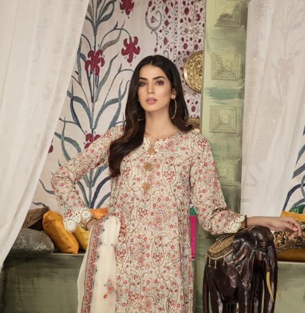 Original Pakistani Collection Khoobsurat Embroidered Swiss Lawn Collection